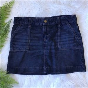 [GAP] Blue Corduroy Mini Skirt with Pockets Sz 10